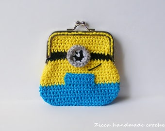 Crochet Minion coin purse PDF pattern