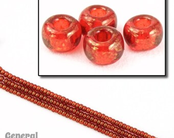 11/0 Gold Luster Red Japanese Seed Bead (20 gm) #JGJ008