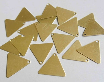 200pcs Raw Brass Triangle Charms ,Findings 16.5mm x 16.5mm- F210