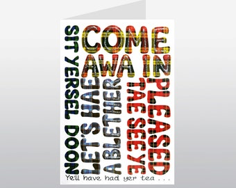 Scottish Words Friend Card WWSF02