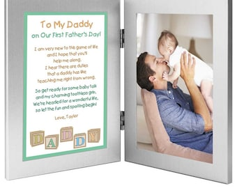 First Father's Day Gift Personalized for Daddy from Daughter or Son #70-555
