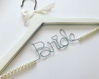 Deluxe Personalized Bride Hanger - Beaded