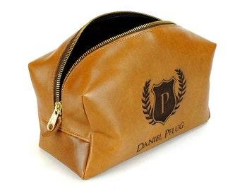 Leather Toiletry Bag - Personalized Dopp Kit - Groomsmen Gift