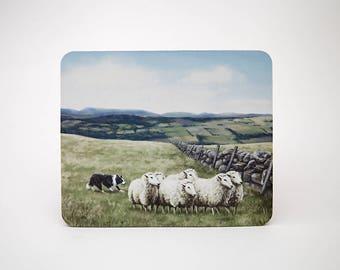 Sheep and Sheepdog Mouse Mat