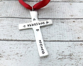 Christmas ornament-personalized christmas ornament-religious christmas ornament-cross ornament-Christmas cross ornament-christmas gift
