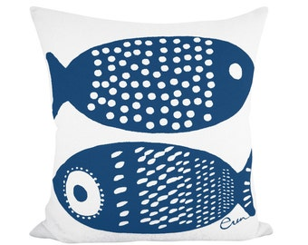 Double Tuna 20in Pillow in Navy
