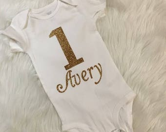 Simple yet adorable 1st Birthday Onesie