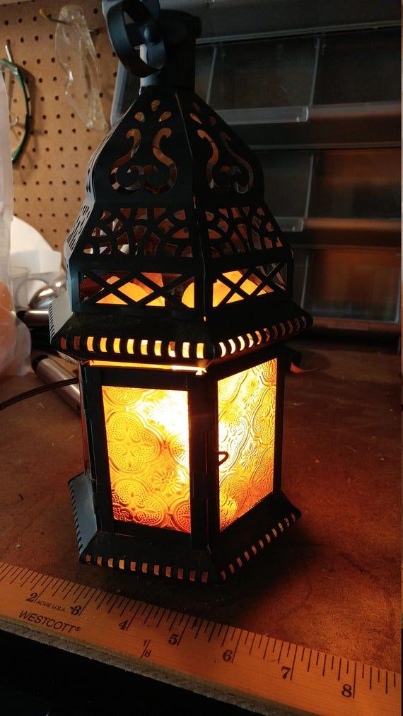 Himalayan Moroccan Lantern Crystal Salt Lamp