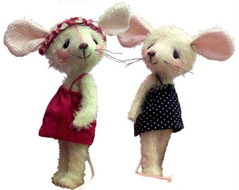 Carrie mouse soft toy digital mouse sewing pattern