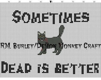 Church the Cat inspired by Pet Semetary Sometimes Dead Is Better