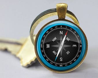 Compass Keychain - Back to school Gift - Graduation Gift -Go in the Direction of your Dreams -