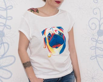 HAND-PAINTED T-SHIRT - Mops