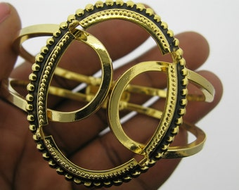 1 40x30 Gold Plated Bracelet Setting- Style 1