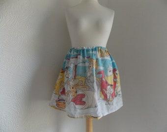 cute the flintstones handmade skirt rare vintage fabric one size