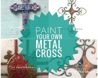 Paint Your Own Metal Cross/Metal Wall Decor/Metal Cross/DIY