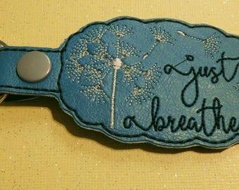 Just Breathe Dandelion key fob