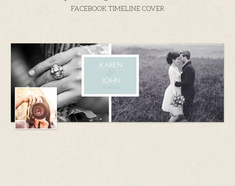 Facebook Timeline Cover - Facebook Timeline Template - PSD Template - Customize Facebook Page - Instant Download - F227