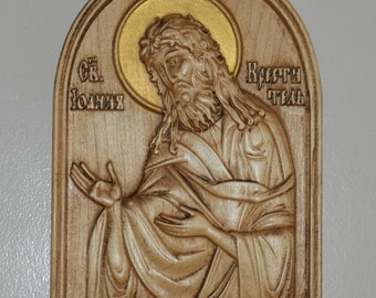 St. John the Baptist (Свети Јован Крстител ) carved in maple wood
