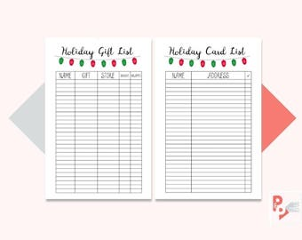 HOLIDAY LIST Mini Happy Planner Printable Inserts, Create 365, Happy Planner Insert, Happy Planner Mini, MAMBI Planner, Instant Download