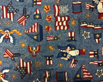 "Americana Cotton Fabric/32"" x 44"" Remnant"