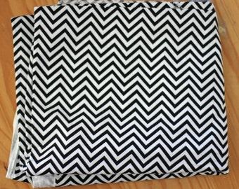 Remix Chevron Fabric Robert Kaufman Ann Kelle - Small Chevron in Black - 1 Yard - Designer Fabric Destash Geometric Nursery