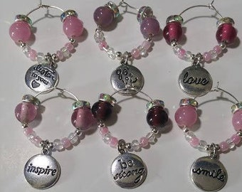 Beaded Wine Charms