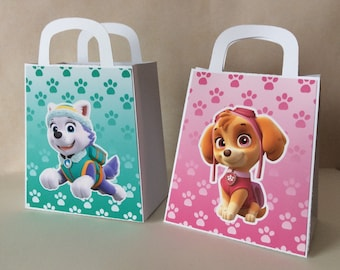 Paw Patrol Favor Bag 10 CT, Loot Boxes, Paw Patrol Table Decoration.