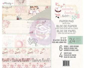 Prima Marketing SANTA BABY 12 x 12 Collection Kit