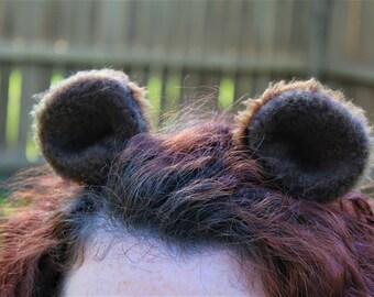 Ewok Ears / Star Wars / Bear Ears / Hair Clips / Cosplay / Kawaii / Anime / Costume / Party Favor
