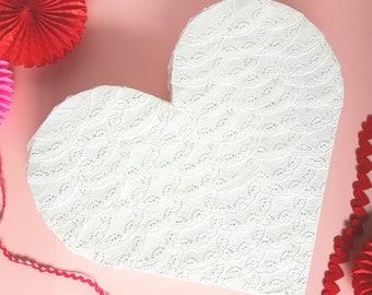 Wedding Lace Heart Pinata