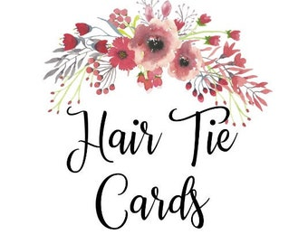 Hair Tie Cards, Cards Only, Custom Hair Tie Favors, Bachelorette Hair Tie Favors, Baby Shower Favors, Wedding Favors, Gender Reveal Favors