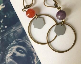 Earrings asymmetric Helen