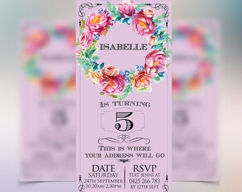 Secret Garden Party Invitations