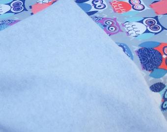 40x40 Girls Owl Fleece blanket