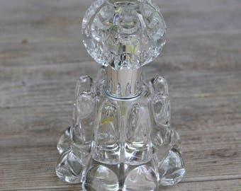 Vintage Perfume Bottle Cut Clear Crystal