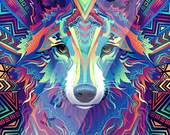 Wakeful Wolf - Large Signed Giclée Print