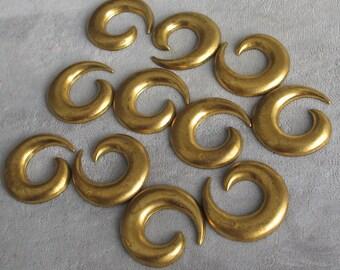 """1 1/8""""  Brass  Open Spiral Domed Shape 12p"""