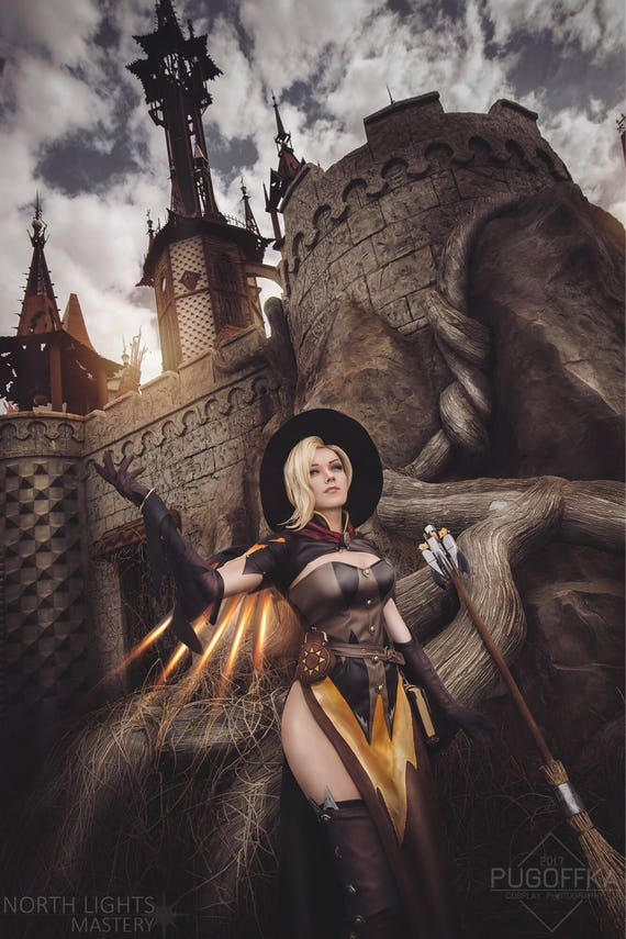 Mercy Witch Overwatch Halloween Legendary Skin cosplay custom