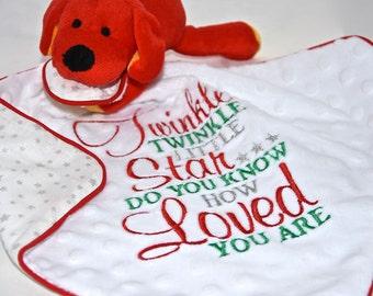 Dog sweet Baby Comforter / Blanket / Soother Blanket / Baby Gift / Baby Shower Gift / New Baby Gift/ Tags Blanket / Christmas Blanket