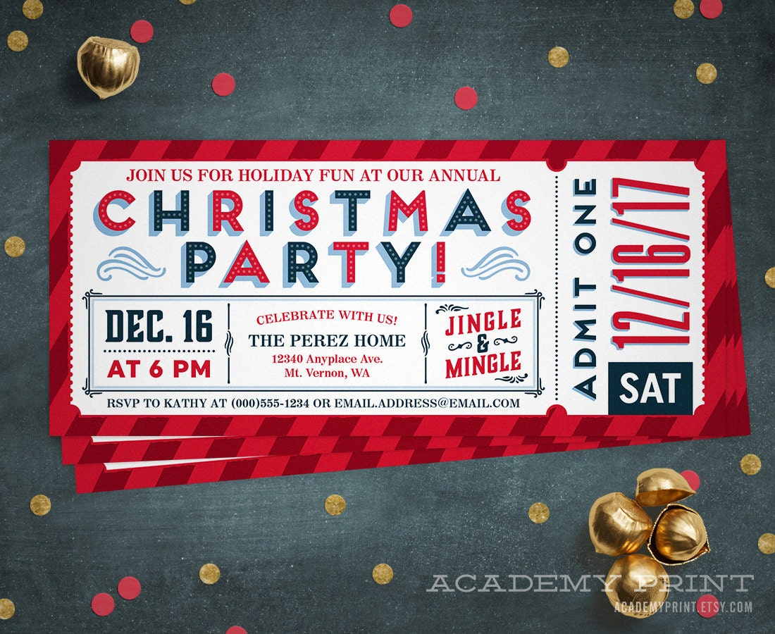Free Fun Christmas Party Invitations Marvelous Funny Christmas Party ...