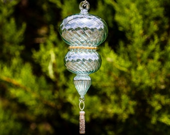 Sterling Silver Keepsake Urn Pendant with Spiral Suncatcher - Great Memorial Sympathy and Bereavement Gift For Dogs - Memorial Garden Art