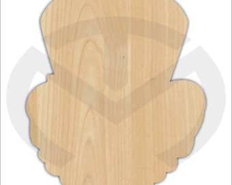 Unfinished Wood Leprechaun Head Laser Cutout, Wreath Accent, Door Hanger, Ready to Paint & Personalize, Various Sizes