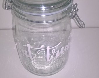 Rat Treats Glass Jar Container Storage