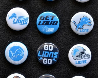 12 Twelve 1  inch Football Pin back Buttons