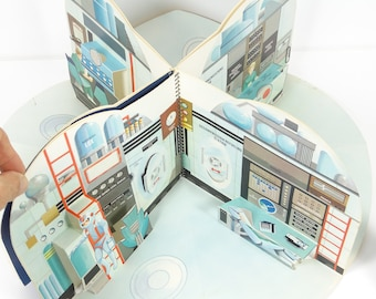 Space Station for a Fine Young Astronaut Hallmark Vintage Space Pop-Up Book Outer Space