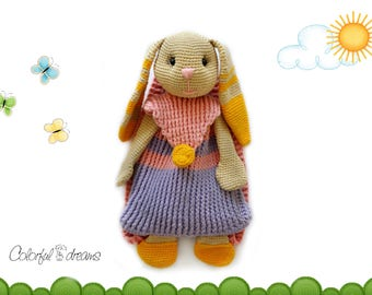 """Crochet pattern Backpack """"Bunny"""""""