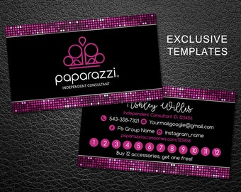 Paparazzi business cards free personalized paparazzi jewelry paparazzi punch card paparazzi business card paparazzi jewelry consultant card paparazzi loyalty reheart Gallery