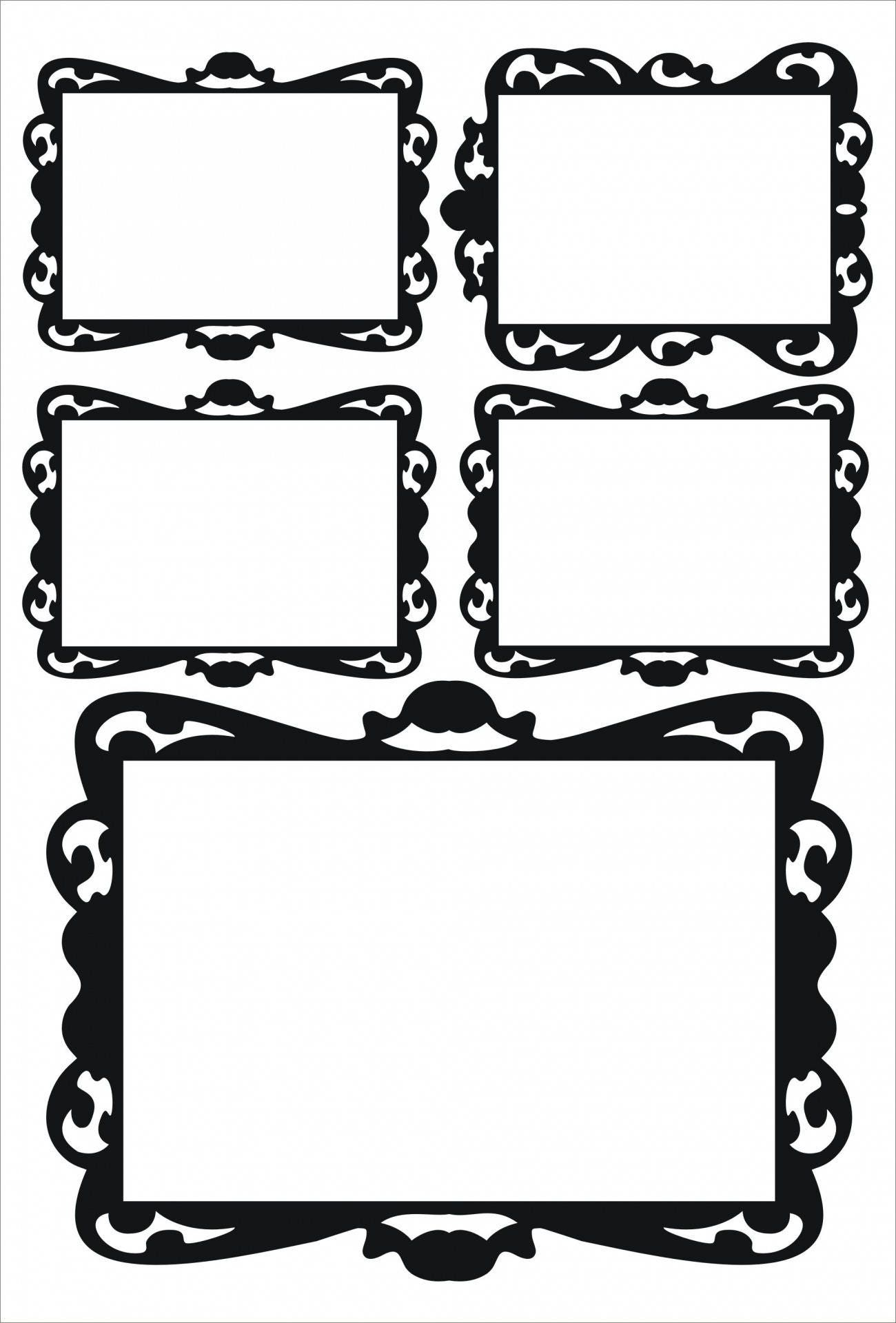 Stickers Black Baroque Frames