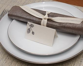 pine place cards - shimmer