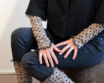 gaiters brown with dots